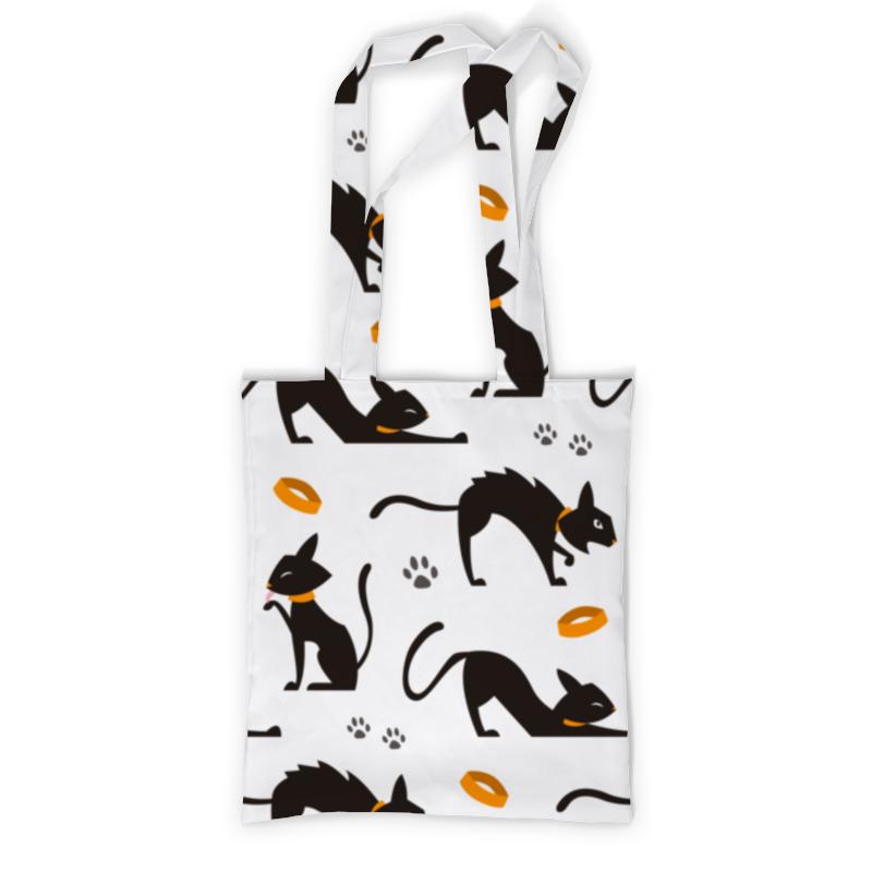 Printio Сумка с полной запечаткой Чёрные кошки printio сумка с абстрактным рисунком