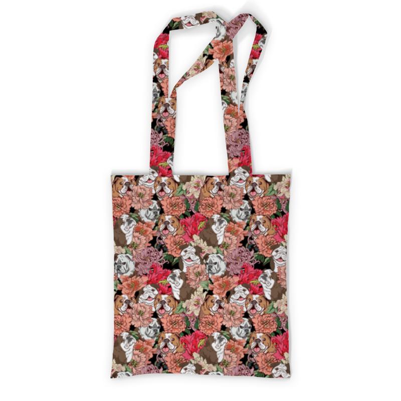 Printio Сумка с полной запечаткой Dogs and flowers printio сумка с абстрактным рисунком