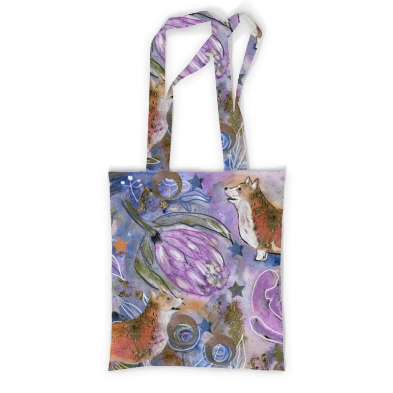 Printio Сумка с полной запечаткой Тропический корги printio сумка с абстрактным рисунком