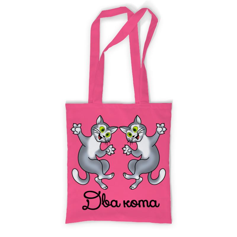 Printio Сумка с полной запечаткой Два кота - 6 printio сумка с абстрактным рисунком