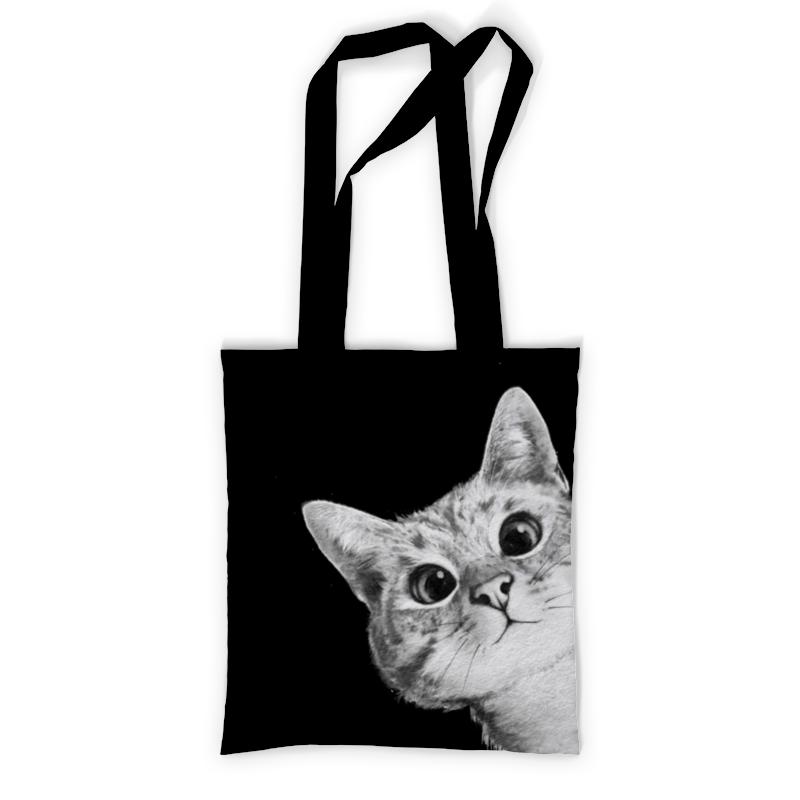 Printio Сумка с полной запечаткой Выглядывающий кот printio сумка с абстрактным рисунком