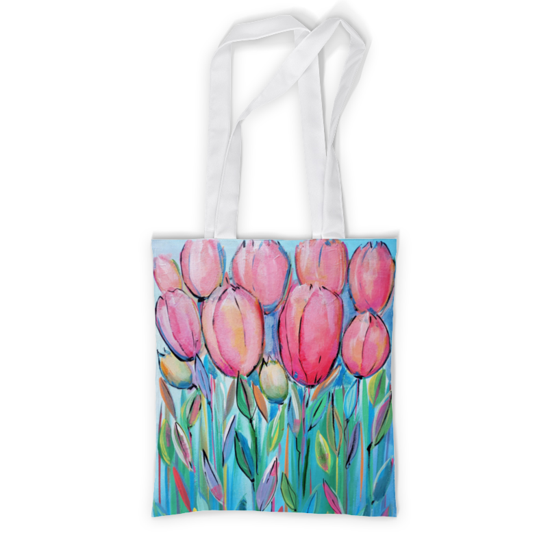 Printio Сумка с полной запечаткой Розовые цветы printio сумка с абстрактным рисунком