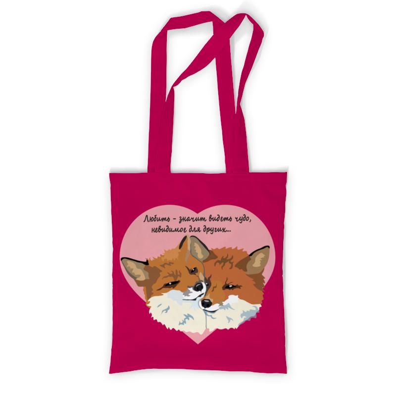 printio сумка с полной запечаткой влюбленные фламинго Printio Сумка с полной запечаткой Влюбленные лисы