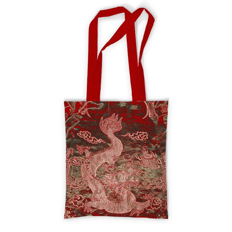 Printio Сумка с полной запечаткой Красный дракон. printio сумка с абстрактным рисунком