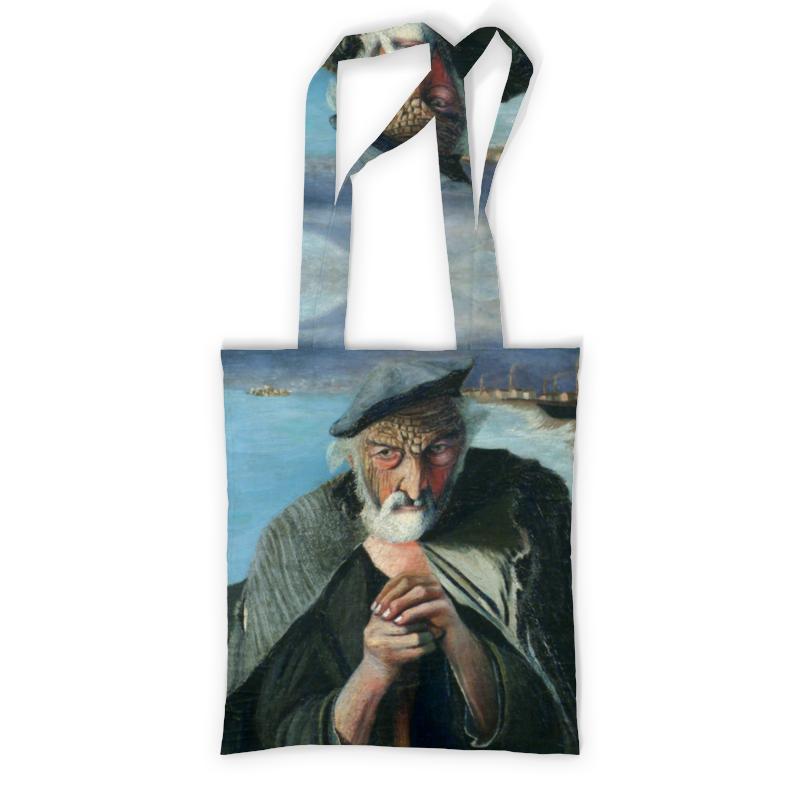 Printio Сумка с полной запечаткой Старый рыбак (тивадар чонтвари)