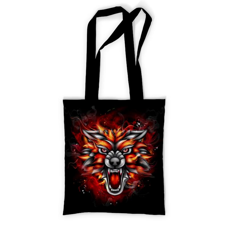 Printio Сумка с полной запечаткой Wolf & fire printio сумка с абстрактным рисунком