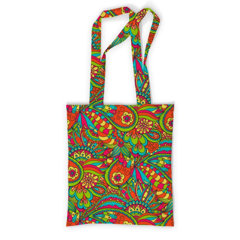 Printio Сумка с полной запечаткой Растительный дудл узор printio сумка с абстрактным рисунком