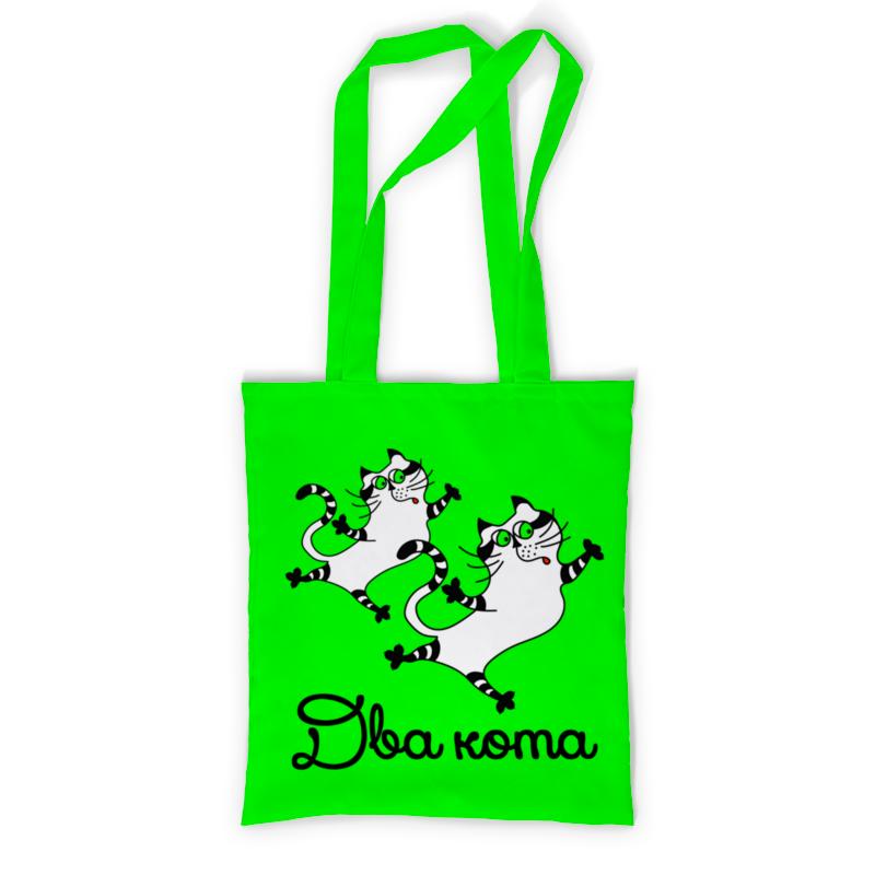 Printio Сумка с полной запечаткой Два кота - 3 printio сумка с абстрактным рисунком