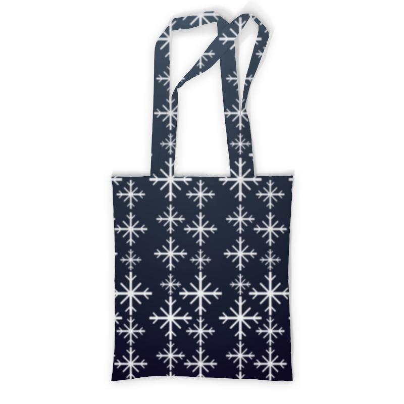 Printio Сумка с полной запечаткой Снежинки printio сумка с абстрактным рисунком