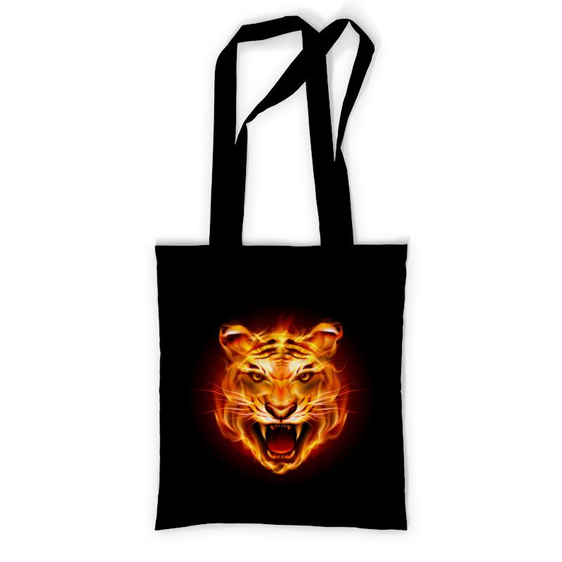 Printio Сумка с полной запечаткой Огненный тигр. printio сумка с абстрактным рисунком