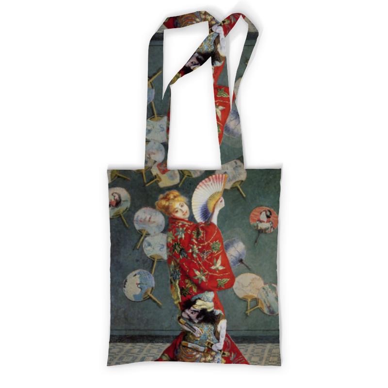 Printio Сумка с полной запечаткой Камилла в японском кимоно (клод моне)
