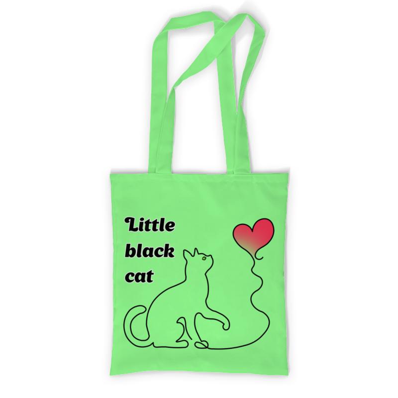 Printio Сумка с полной запечаткой Black cat printio сумка с абстрактным рисунком