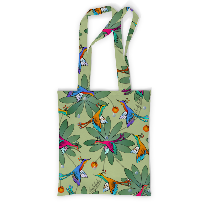 Printio Сумка с полной запечаткой Lovely birds printio сумка с абстрактным рисунком