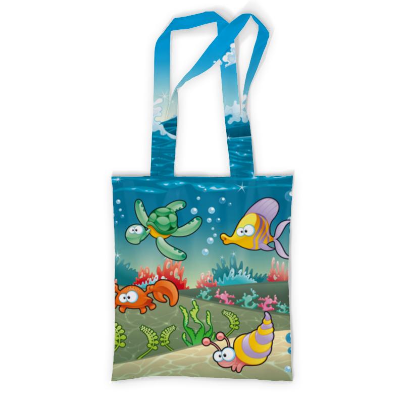 Printio Сумка с полной запечаткой Обитатели моря printio сумка с абстрактным рисунком