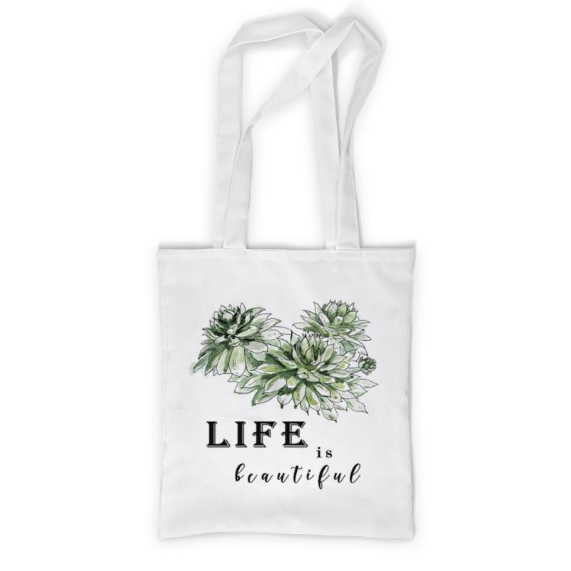 Printio Сумка с полной запечаткой Жизнь прекрасна! printio сумка с абстрактным рисунком
