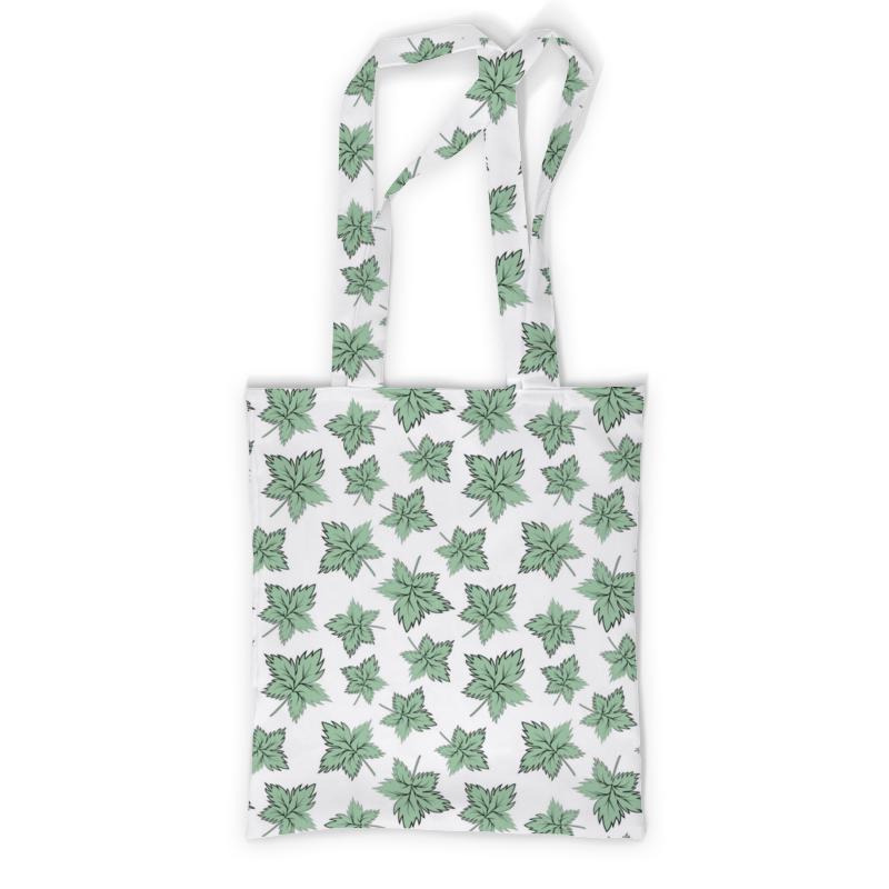 Printio Сумка с полной запечаткой Кленовые листья зеленые printio сумка с полной запечаткой зеленый человек