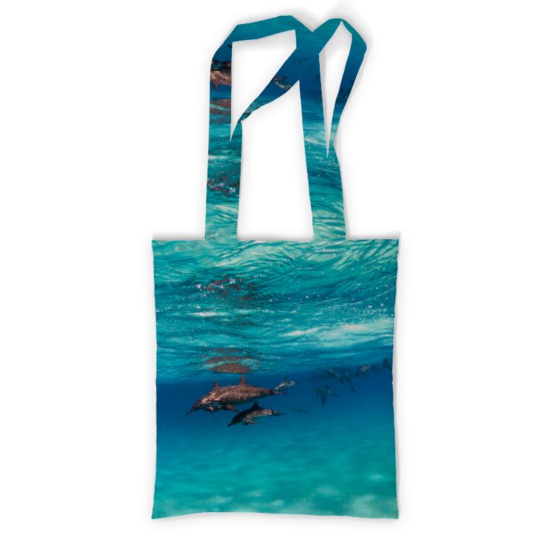 Printio Сумка с полной запечаткой Стая дельфинов printio сумка с абстрактным рисунком