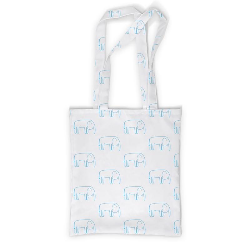 Printio Сумка с полной запечаткой Синий слон printio сумка с абстрактным рисунком