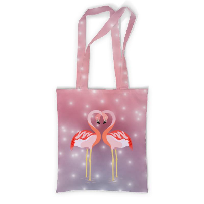printio сумка с полной запечаткой влюбленные фламинго Printio Сумка с полной запечаткой Влюбленные фламинго