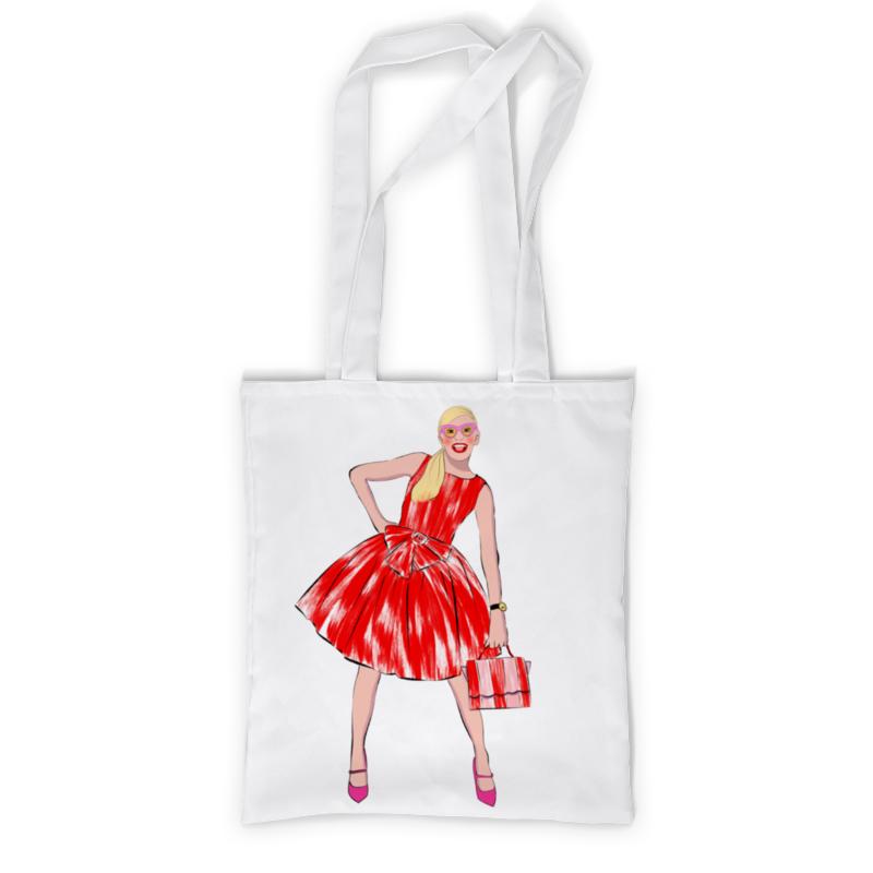 Printio Сумка с полной запечаткой Девушка в красном платье