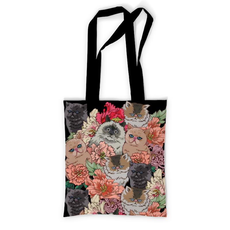 Printio Сумка с полной запечаткой Коты в цветах printio сумка с абстрактным рисунком