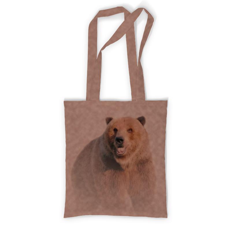 Printio Сумка с полной запечаткой Медведь printio сумка с абстрактным рисунком