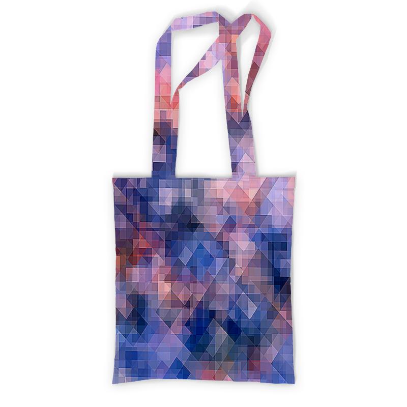 Printio Сумка с полной запечаткой Пиксель-арт. сине-розовый паттерн