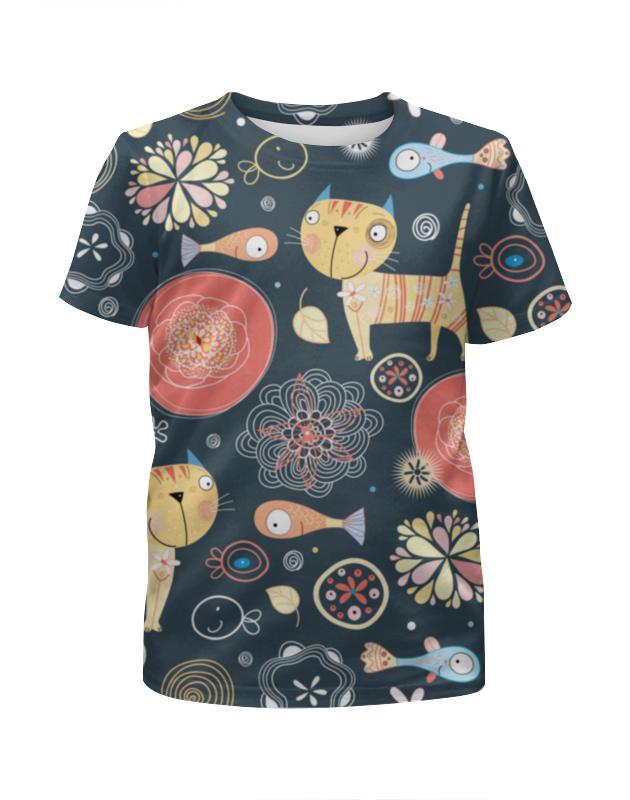 Printio Футболка с полной запечаткой для мальчиков Коты и рыбки printio футболка с полной запечаткой для мальчиков рыбки