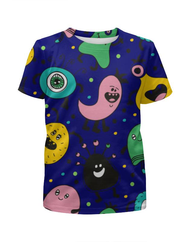 Printio Футболка с полной запечаткой для мальчиков Смешные монстры printio футболка с полной запечаткой для мальчиков смешные панды