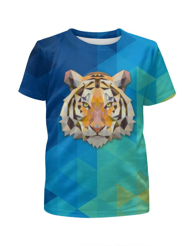 Printio Футболка с полной запечаткой для мальчиков Полигональный тигр