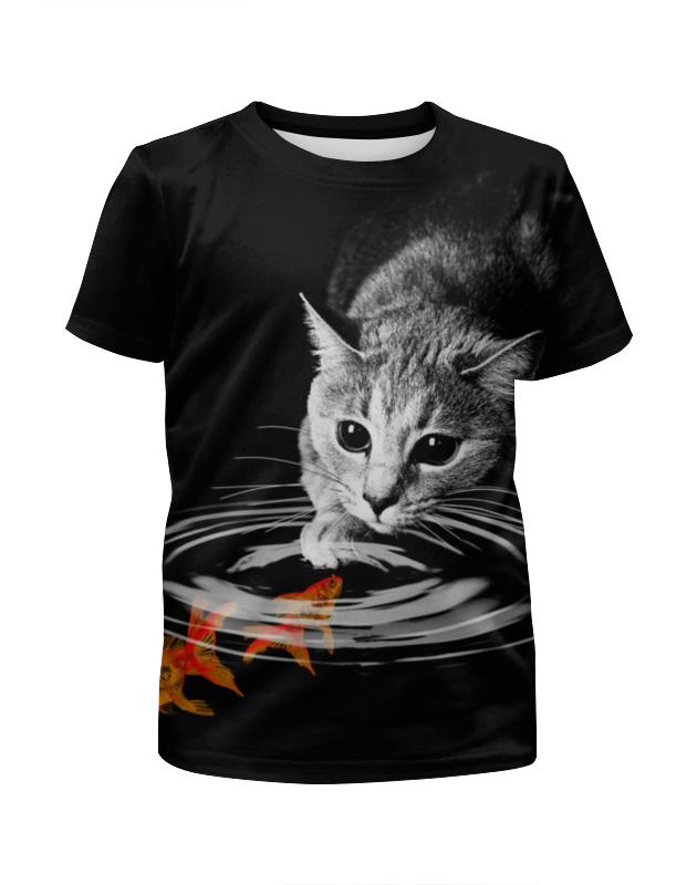 Printio Футболка с полной запечаткой для мальчиков Кот и рыбки printio футболка с полной запечаткой для мальчиков рыбки