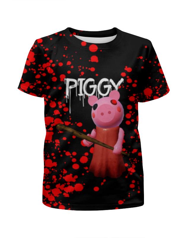 Printio Футболка с полной запечаткой для мальчиков Roblox piggy - свинка пигги фото