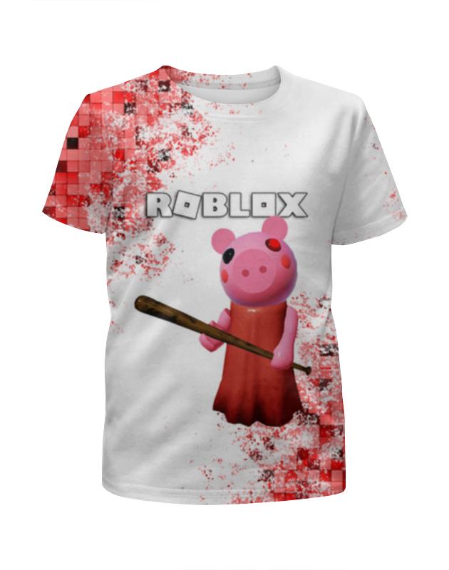 Printio Футболка с полной запечаткой для мальчиков Roblox piggy - свинка пигги