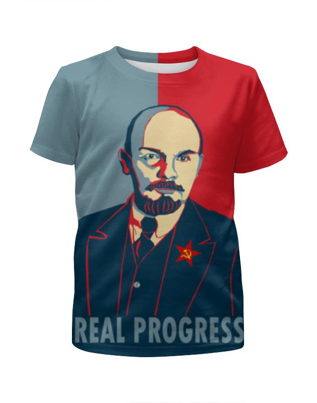 Printio Футболка с полной запечаткой для мальчиков Ленин