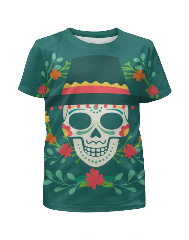 Printio Футболка с полной запечаткой для мальчиков Мексиканец (череп)