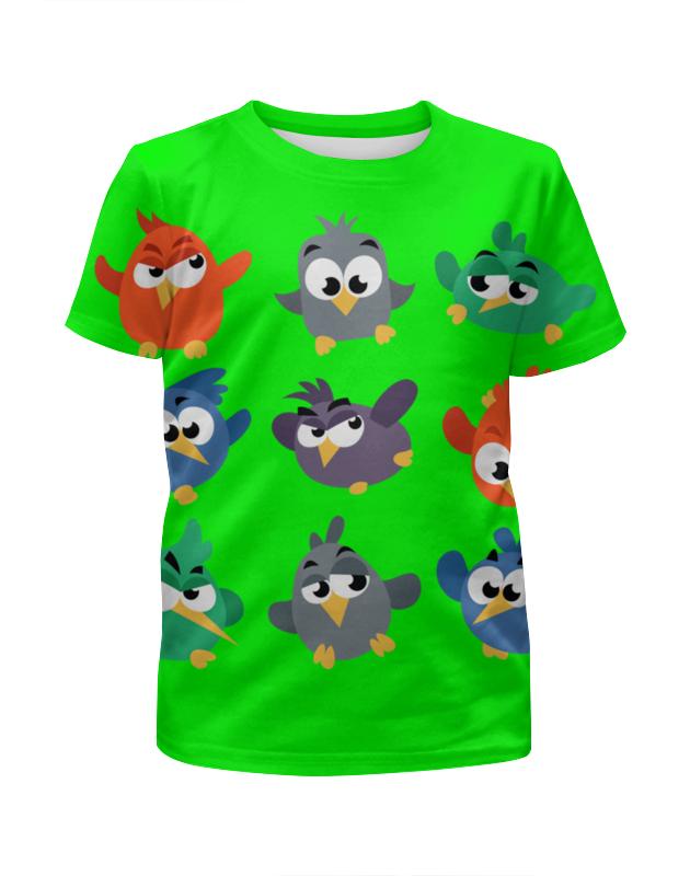 Printio Футболка с полной запечаткой для мальчиков Смешные птички printio футболка с полной запечаткой для мальчиков смешные панды