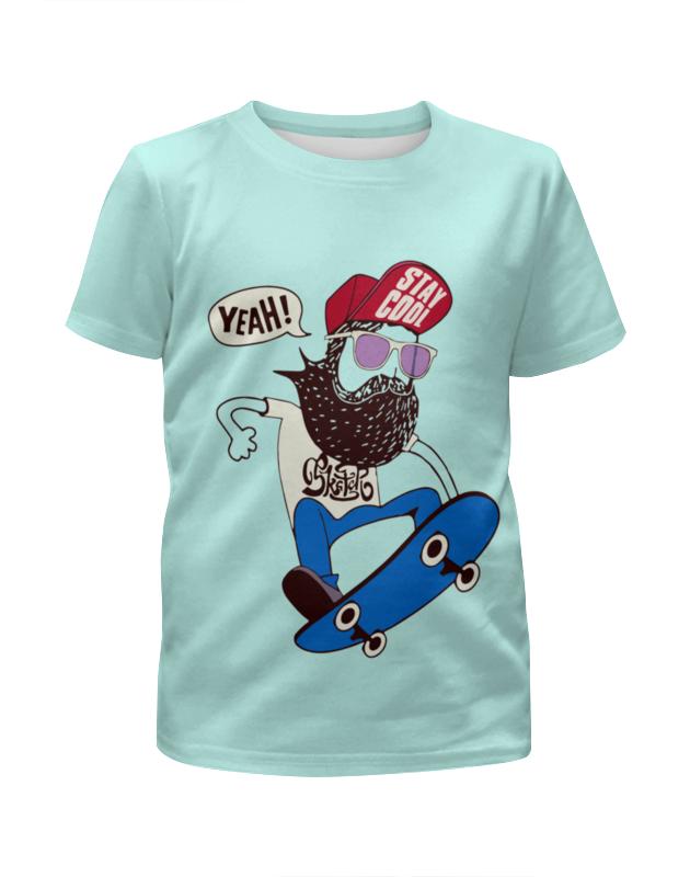 Printio Футболка с полной запечаткой для мальчиков Скейтер с бородой футболка с полной запечаткой для мальчиков printio ac dc