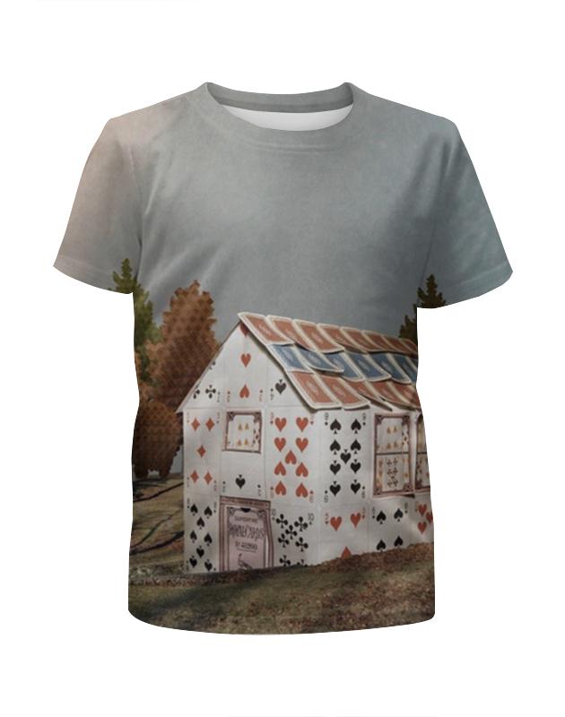 Printio Футболка с полной запечаткой для мальчиков Карточный домик