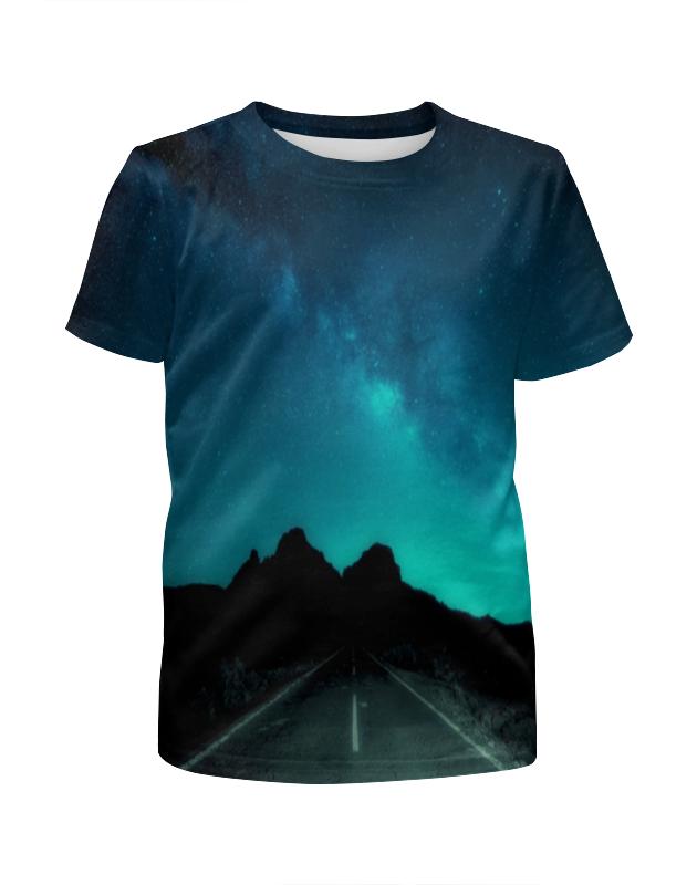 printio футболка с полной запечаткой мужская дорога Printio Футболка с полной запечаткой для мальчиков Ночная дорога