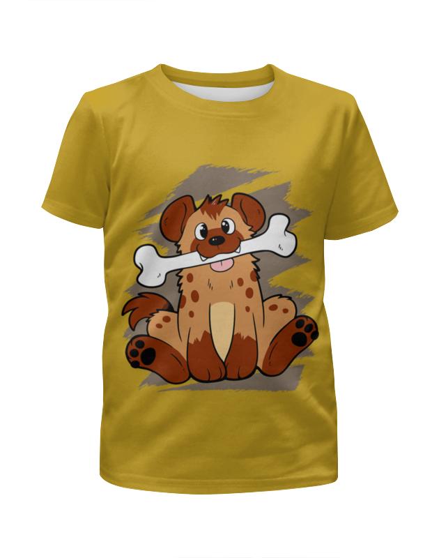 Printio Футболка с полной запечаткой для мальчиков Собачка с косточкой футболка с полной запечаткой для мальчиков printio ac dc