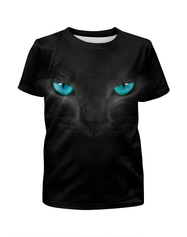 Printio Футболка с полной запечаткой для мальчиков Взгляд черной кошки