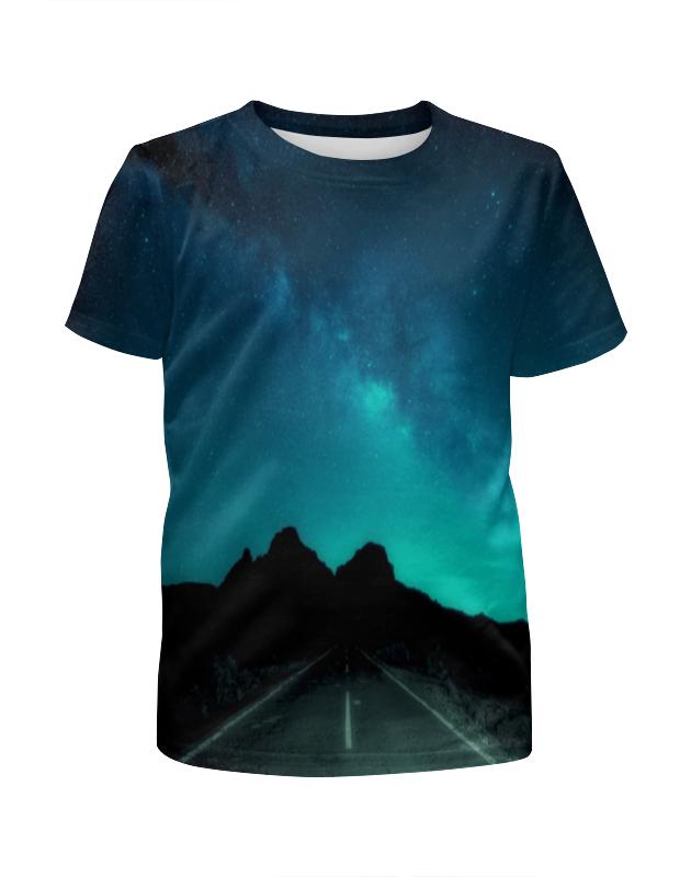 printio футболка с полной запечаткой мужская дорога Printio Футболка с полной запечаткой для девочек Ночная дорога