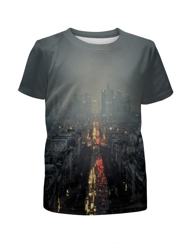 printio футболка с полной запечаткой для девочек город Printio Футболка с полной запечаткой для девочек Ночной город