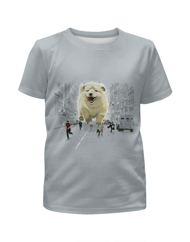 Printio Футболка с полной запечаткой для девочек Большая собака