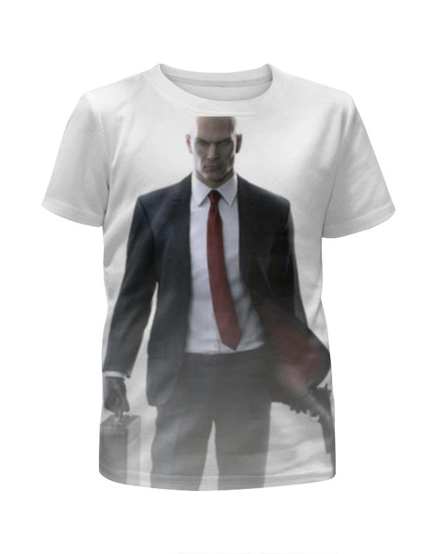 футболка с полной запечаткой для девочек printio hitman Printio Футболка с полной запечаткой для девочек Hitman