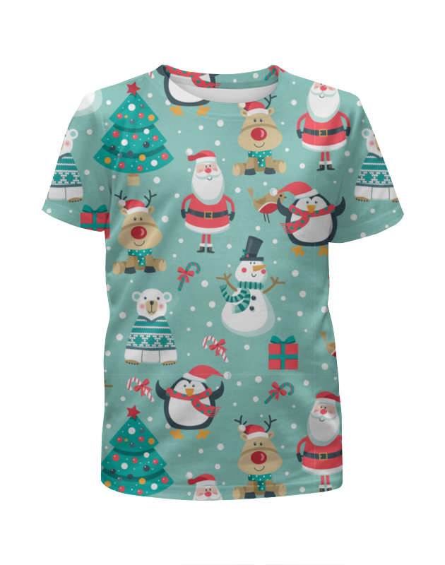 Фото - Printio Футболка с полной запечаткой для девочек С новым годом printio футболка с полной запечаткой для мальчиков с новым годом