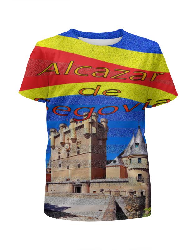 Printio Футболка с полной запечаткой для девочек Замки испании. замок сеговия.