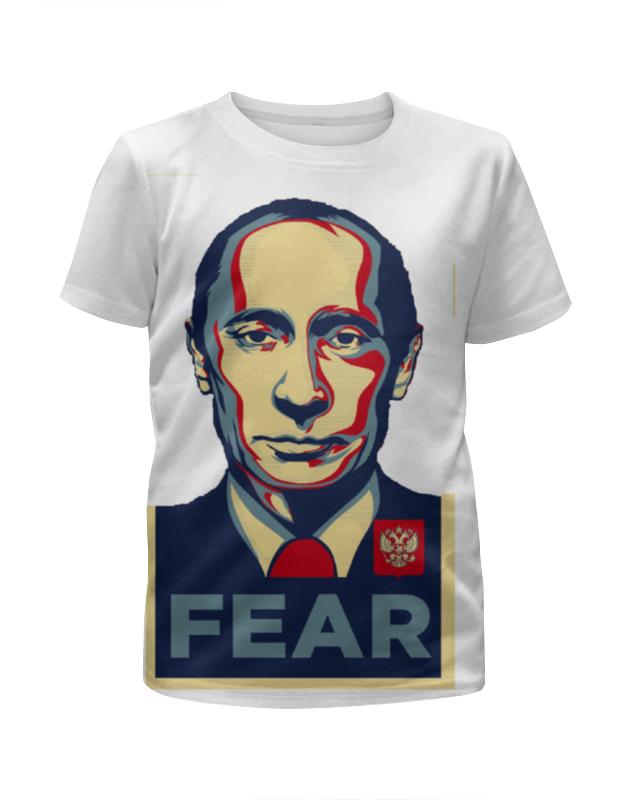 Printio Футболка с полной запечаткой для девочек Путин