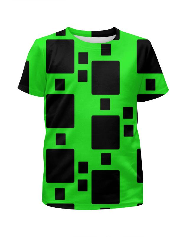 Printio Футболка с полной запечаткой для девочек Черные квадраты фото