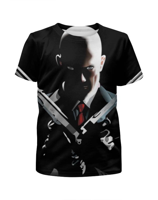 футболка с полной запечаткой для девочек printio hitman Printio Футболка с полной запечаткой для девочек Хитмен